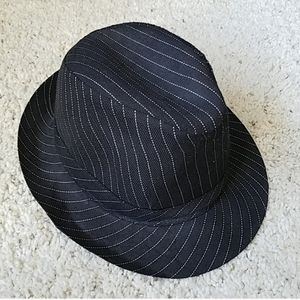 Other - NWOT Pinstripe black Fedora hat
